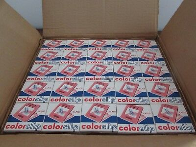 lot de 25 boites neuves de cadres diapositives colorclip rapid
