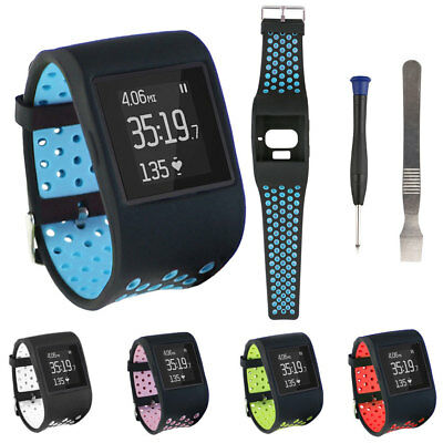Replacement Wide Hollow Silicone Watch Band Strap Wristband for Fitbit Surge Del