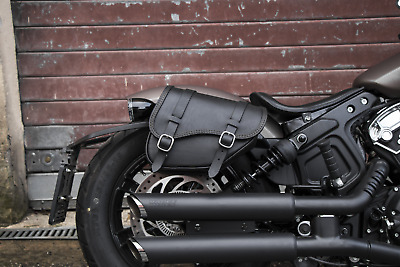 2018 - 2020 Indian Scout Bobber Leather Saddlebags Left And