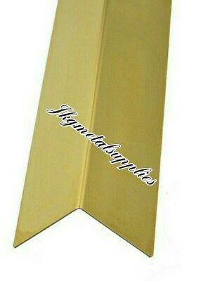 Folded Corner Protector Angle  - BRASS -  many sizes
