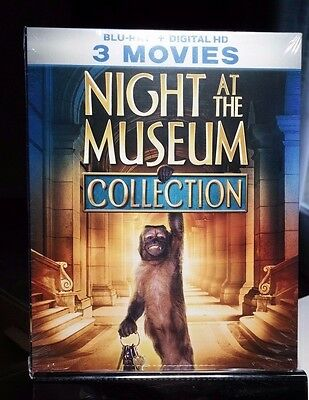 Night At The Museum 3-Movie Collection (Blu-ray+DiGITAL CODE)Brand NEW -Free S&H