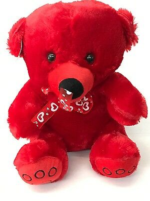 """New-Big Red I Love You Teddy Bear Soft Plush Valentines Day Gift - 14"""""""