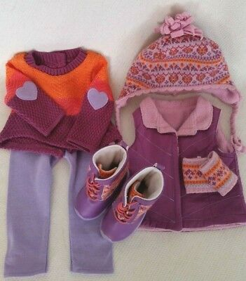 *Looks New* American Girl Doll Truly Me Warm Winter Ski Outfit + Accessories Lot