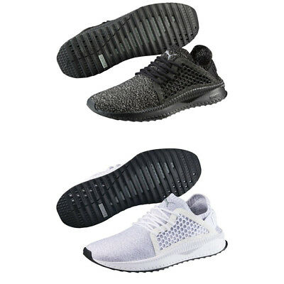bd309d9a20ec49 Puma TSUGI Netfit Evoknit Mens Trainers Shinshei Cage Black Olive White  Shoes