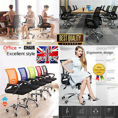 Office Mesh Chair Computer Desk Adjustable 360° Swivel Quality Designed Fabric