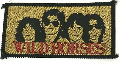 WILD HORSES - Old OG Vtg 70/80`s Woven Patch Sew On(Not Thin Lizzy Rainbow)