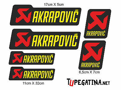 Stickers Decal Adhesive Pegatinas Kit Akrapovic