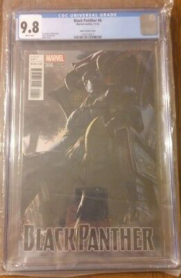 Black Panther #6 1:25 Udon Incentive Variant CGC 9.8 Marvel