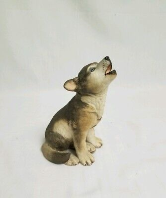 Lenox Smithsonian Institution Gray Wolf Pup Porcelain Hand Painted Figurine 1992