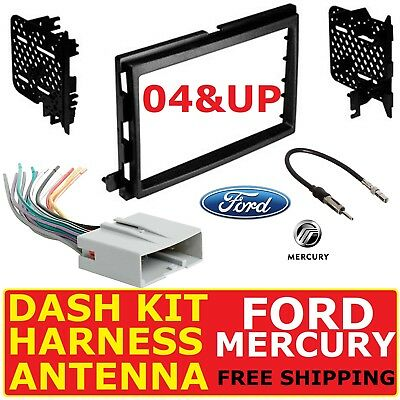 2004 & UP Ford Mercury Car Radio Stereo Dash Kit, Wire Harness ...  Ford Wiring Harness Kits on ford clutch kits, ford air filters, ford truck bed kits, ford falcon lowering kit, ford intercooler kits, ford brake line kits, ford winch mounting kits, ford exhaust kits, trailer wiring kits, ford truck replacement parts, ford transmission solenoid problems, ford truck lowering kits, ford steering column upper bearing, ford wire harness repair, ford ranger stereo replacement, ford edge stereo upgrade, 2003 ford focus radio install kits, ford power steering kits, ford falcon parts catalog, ford ranger radio install kit,