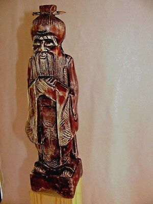 Antique Chinese Buddism Guanyin Wood - The  Artist Signed / Hand Carved /