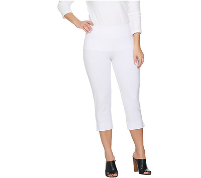 eede802931563 Wicked by Women with Control Petite Pull-on Capri Pants Alabaster Size  Medium