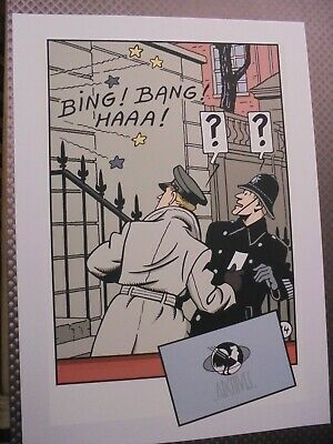 Jacobs Tres Rare Serigraphie Blake Et Mortimer Pigeon 1987 Neuf