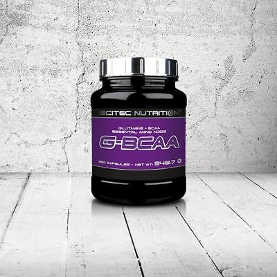 SCITEC NUTRITION G-BCAA 250 cps. BRANCHED-CHAIN AMINO ACIDS WITH GLUTAMINE