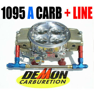 6 AN Silver Made in the USA Barry Grant Demon Carb Braided Dual Fuel Line