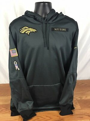 2018 DENVER BRONCOS Men's Salute to Service Sweatshirt Hoodie XL  for sale