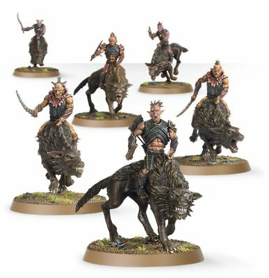 Warhammer Hunter Orcs on Fell Wargs The Lord of the Rings plastic new