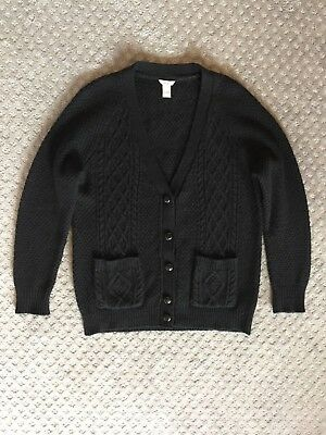 XXI Los Angeles womens cable-knit cardigan sweater size S black long sleeves 441d5f6bf