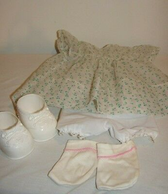 Vintage Lot 1950s/60s Doll Clothes Outfit Shoes Cutest Chiffon Dress Bloomers