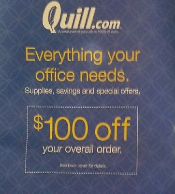 QUILL.COM $100 OFF $200+ order! (New or inactive business accounts) Ex 2/3/2019