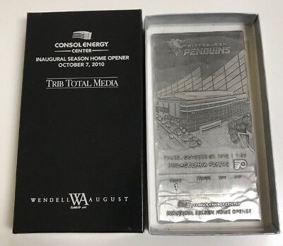 Pittsburgh Penguins Consol Energy Center Inaugural Metal Ticket - Wendell August