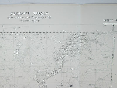 1958 old OS Ordnance Survey 1:25000 First Series Prov map ST 73 Stourhead  31/73