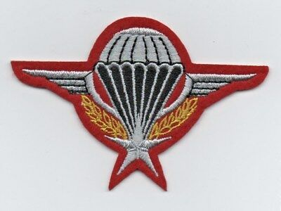 PARACHUTE Military style Embroidered Iron or Sew on Patch Fancy Dress  POST FREE