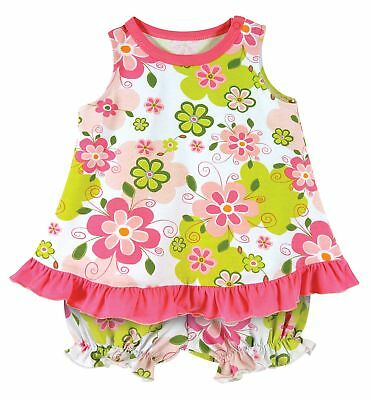 b82ad267dd3 Stephan Baby Ruffled Top Bloomer-Style Diaper Swirly Flower Cover Set 3-6  Months