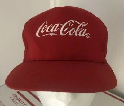 VINTAGE COCA-COLA COKE Snapback Hat Cap Red Embroidered Usa -  9.99 ... 0d7c473c665