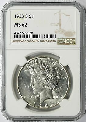 1923-S Peace Silver Dollar $1 NGC MS62