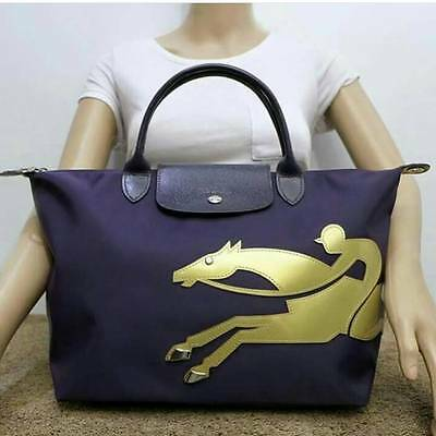 3b6e5ecd401c Longchamp Le Pliage Cavalier Medium NAVY Gold Bag Asia Limited Edition Sold  Out