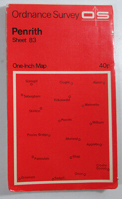 1970 old vintage OS Ordnance Survey seventh series one-inch Map 83 Penrith
