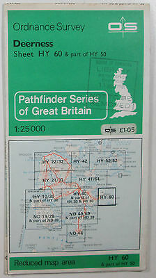 1981 old OS Ordnance Survey 1:25000 Pathfinder map Deerness HY 60 & part HY 50