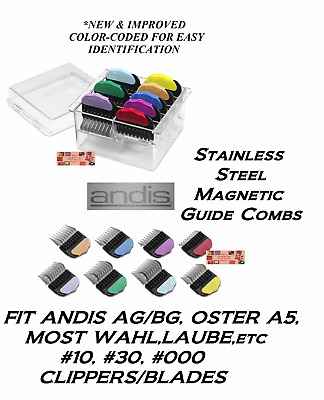 ANDIS STAINLESS STEEL Magnetic Blade GUIDE COMB*FitMOST Laube,Wahl