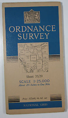 1947 OS Ordnance Survey 1:25000 First Series Prov map NY 20 Sca Fell 35/20