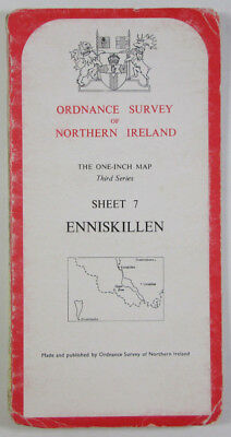 Old 1978 OS Ordnance Survey N Ireland One-Inch Third Series Map 7 Enniskillen