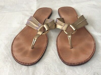 865a171c7 LILLY PULITZER SIZE 10 McKim Gold Leather Wedge Sandals New Without ...