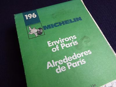 Vintage Michelin Tourist Map, France, Sheet 196, Environs of Paris, 1:100 000