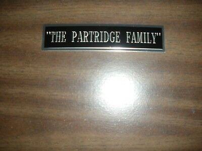 """""""the Partridge Family"""" (Tv Show) Engraved Nameplate For Photo/display/poster"""
