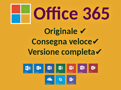 Microsoft Office 365/2016 Pro Plus - Lifetime Account ✔5 Dispositivi ✔5Tb Cloud✔