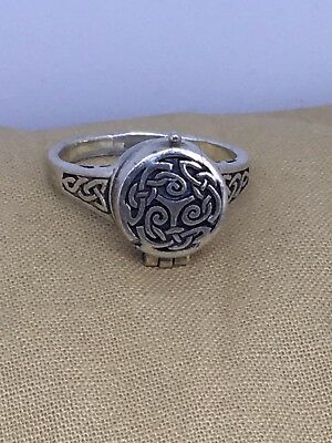 Sz 8.75 PSCL Sterling Silver Celtic Poison Ring 6.5g 8-5