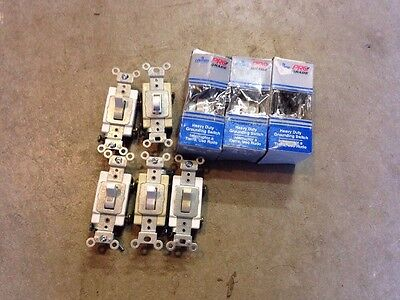 8 Leviton COMMERCIAL Single Pole Toggle Wall Light Switches 15A CS115-2G CS120