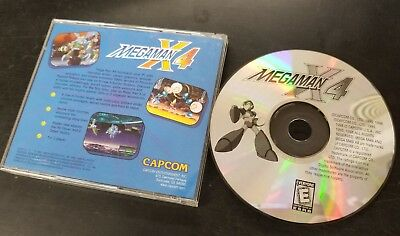 MEGA MAN X4 PC CD-ROM vintage game from 1998 - Tested & reads fine - RARE!