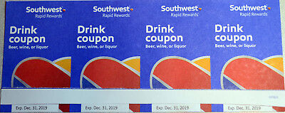 4 Southwest Drink Coupons - Good For One Year (Exp. 1/31/20)