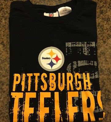 fdec60053 Nfl team apparel pittsburgh steelers youth t-shirt black s s medium size 8
