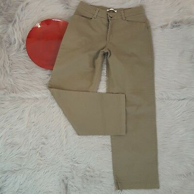 00e14bf7 DICKIES PANTS WOMENS 4 khaki beige pleat straight leg relaxed fit ...