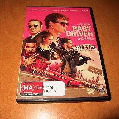 Baby Driver ( 2017 , Dvd , Region 4 ) Ansel Elgort , Lily James * Ex-Rental Dvd