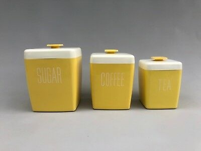 VINTAGE MID CENTURY Modern Kitchen Canisters Cast Plastic ...
