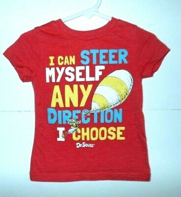 "Dr Seuss 12 m top,red short sleeve""I Can Steer Myself In Any Direction I Choose"""