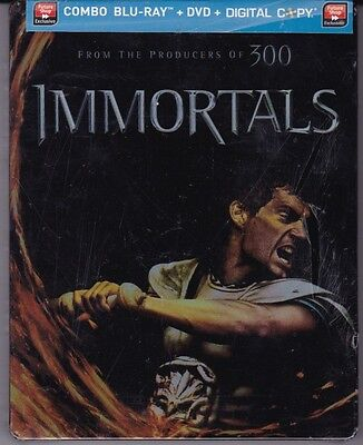 Immortals Blu ray DVD Combo Steelbook (All Markings in pic is just plastic)